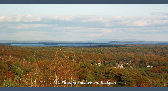 Mt. Pleasant Subdivision, Rockport Maine